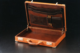Attache case made in collaboration with premier saddle maker, Donn Leson