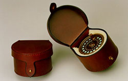 Leather Flyfishing Clamshell Style Reel Case