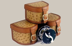 Ostrich Leather Flyfishing Reel Case