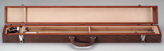 hard                            frame case for Saracione reel and D.L. Whitehead rod